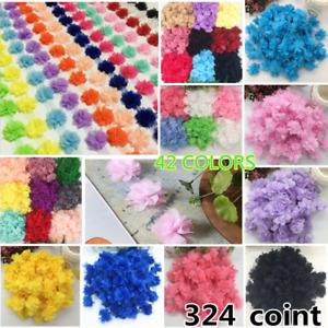 HB32 1 Yard,Flowers Chiffon Lace Edge Trim Ribbon Wedding Appliques DIY Sewing