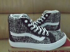 Vans SK8-Hi Cup Luxe Tweed Women's Size 9 (Men's 7.5) Shoes Skate Black/Gray NEW