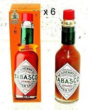 6 x Original Tabasco Pepper Sauce  57ml Bottle Exp 2025 Mcilhenny Co. 🇺🇸