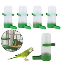 4pcs Pet Cage Aviary Bird Parrot Budgie Finches Drinker Food Feeder Waterer Clip