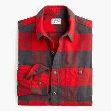 L   J CREW Midweight Herringbone Buffalo Plaid Shirt NWT in Bag # K3707 $79.50