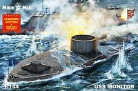 Mikro Mir 144-028 - 1/144 Civil War ironclad USS Monitor Scale plastic model kit