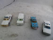 Lot of 4 Police Vehicles: Kidco, Matchbox, Yatking, ERTL