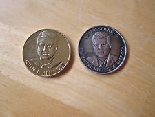 Lot of (2) John F. Kennedy MEDALS