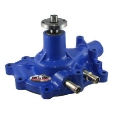 Tuff Stuff Water Pump 1432CBLUE; Mechanical Blue Cast Iron for Ford SBF