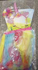 Rainbow Tutu Costume Kids Girls Pony Unicorn Fancy Dress Skirt Headband & Wand