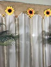 Burlap Wedding Backdrop Garland Reception Lace Party Rustic Shabby Sunflower