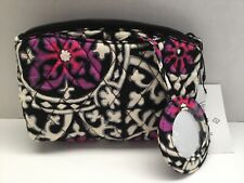 Vera Bradley Mirror Cosmetic Case in SCROLL MEDALLION  Quilted - Mirror Attached