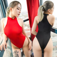 Sexy Women Lingerie Crotchles One Piece Thong Leotard Bodysuit Swimwear Jumpsuit