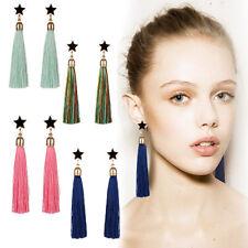 Stylish Bohemian Earrings Womens Long Tassel Fringe Boho Dangle Earrings Jewelry