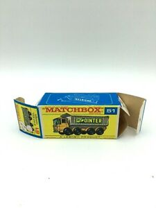 Matchbox 51c Original Type F Box Printed By Bowater