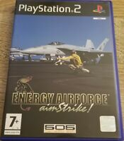 Energy Airforce Aim Strike! PS2 Sony Playstation 2 CIB Tested Black Label PAL