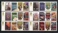 Sellos Inglaterra Reino Unido Jame Bond 2965/70 año 2008 peliculas stamps films