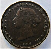 1866 Jersey Victoria, Young Head 1/26 Shilling, Grading VERY FINE.