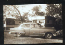 REAL PHOTO 1953 DESOTO CAMPER CAMPING ADVERTISING POSTCARD COPY '53 DE SOTO