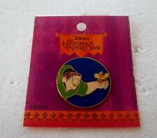 *~* DISNEY QUASIMODO AND BIRD ON BLUE CIRCLE HUNCHBACK OF NOTRE DAME PIN *~*
