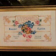 Vtg Janlynn Counted Cross Stitch Kit Wedded Wedding Love Hearts #125-61 NIP 1992