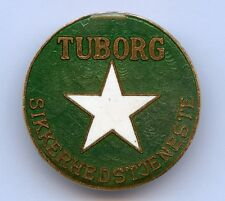 Denmark Danish Vintage Tuborg Security Contact Beer Badge Pin Nice Grade !!