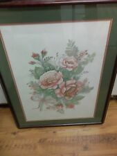 Mary Vincent Bertrand Signed Floral Print Professionally Framed 2044/2900 Art