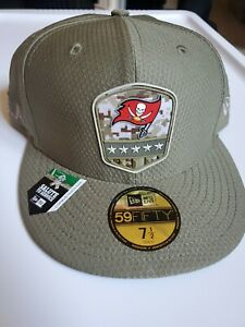 New Era NFL TAMPA BAY BUCCANEERS FITTED SALUTE TO SERVICE HAT SIZE (7 1/2)