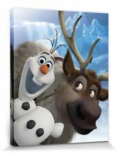 Die Eiskönigin - Olaf Sven Disney Poster Leinwand-Druck Bild (50x40cm) #91709