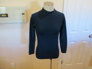 Reebok Cold Play warm gear Mock Compression Shirt long sleeve Youth Large 14 16