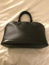 Louis Vuitton Alma Epi Leather Hand Bag 100% Authentic Black