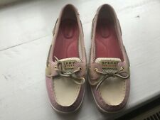 e8d7245e89283 Sperry Top Sider Pink Suede Leather Flat Slip On Deck boat Shoes UK 7 M