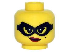 LEGO - Minifig, Head Female Black Eye Mask, Beauty Mark, Red Lips with Smirk