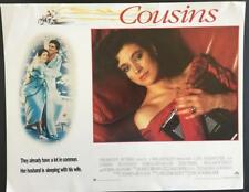 Sexy Isabella Rossellini holding a book Cousins 1989 original lobby card 1735