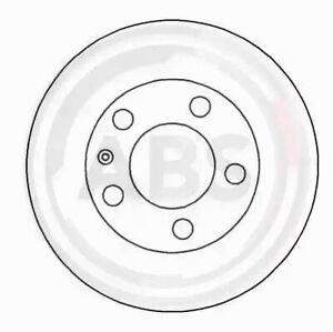 Rear Set 2x Brake Discs A.B.S. 16630 for VW Golf/Passat (94-97)