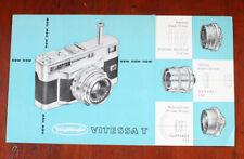 VOIGTLANDER VITESSA T SALES BROCHURE, FOUR PAGES, W3370-E 0/1256/cks/197245