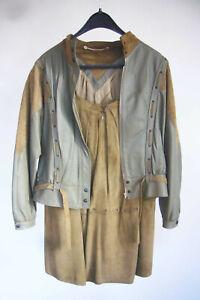 Kombination Kostüm Vintage Gr.40 NORMA 80er-Jahre Leder Western-Style