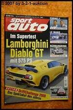 Sport Auto 7/00 Viper GTS Porsche 928 GTS Diablo GT