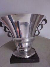 Coupe Art-Déco 1920 métal argenté Belgique façon Lalique