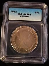1962 Canadian $1 Coin ICG - MS61 (C372)