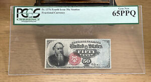 Fr-1376 $0.50 Fourth Issue Fractional Currency - 50 Cent - Graded PCGS 65PPQ