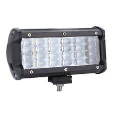 400W 7inch Spot Beam Offroad Truck Driving SUV Boat Bumper LED Work Light Bar
