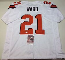CLEVELAND BROWNS DENZEL WARD SIGNED WHITE CUSTOM JERSEY JSA COA!!