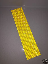 3M Diamond Grade Yellow/Gold Class 1 Adhesive Reflective Tape Strip 50mm x 200mm