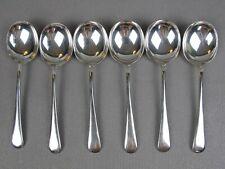Set of 6 vintage EPNS silver plated Larko Old English pattern SOUP SPOONS. 16 cm