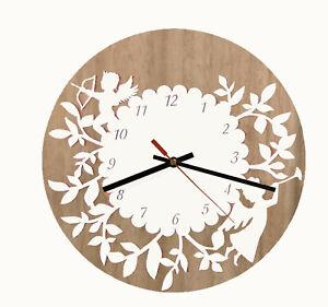 Wall Clock Modern Australian Made Wooden Floral Round Design