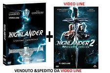 Dvd Highlander - L'Ultimo Immortale / Highlander 2 - Il Ritorno (2 Dvd) ...NUOVO