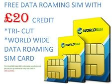 WorldSIM Data SIM Card-Travel Card-Roaming Tablets - Phone - WIFI & MIFI DEVICES