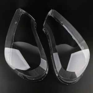 Left Right Headlight Headlamp Lens Cover For Porsche Cayenne 2008-2010 2pcs