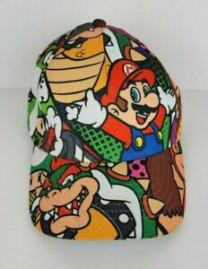 Nintendo Super Mario Bros Youth One Size Fits All Multi Color Snap Back Hat
