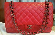 Chanel Red Caviar Maxi Handbag