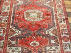 "4'3""X6'9"" Handmade wool Authentic Vintage Traditional Hamedan Oriental area rug"