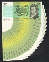 Australia R-81. (1966) 2 Dollars - Coombs/Wilson.. Consecutive Run of 20.  UNC