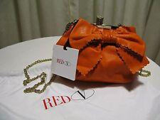 NEU VALENTINO  RED Abendtasche/Schultertasche orange-Echt Leder